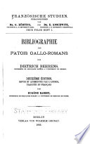 Bibliographie des patois gallo-romans