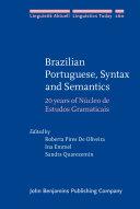 Brazilian Portuguese  Syntax and Semantics