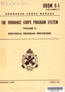 Ordnance Corps Manual 9 1 V 2 Ordnance Corps Program System  Individual Program Provisions