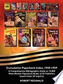 Cumulative Paperback Index 1939 1959