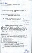 International Studies in Higher Education Act of 2003