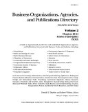 Business Organizations  Agencies  and Publications Directory