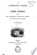 The Complete Works Of Lord Byron Book