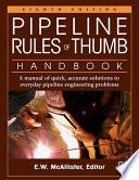 Pipeline Rules of Thumb Handbook Book