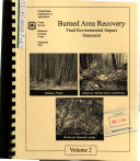 Pdf Bitterroot National Forest (N.F.), Burned Area Recovery, Ravalli County