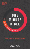 CSB One-Minute Bible for Students [Pdf/ePub] eBook