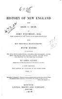 Pdf The history of New England from 1630 to 1649