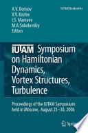 IUTAM Symposium on Hamiltonian Dynamics  Vortex Structures  Turbulence Book