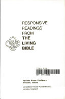 Responsive Readings From The Living Bible
