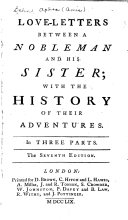 Pdf Love-letters Between a Nobleman and His Sister