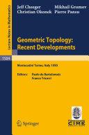 Geometric Topology  Recent Developments