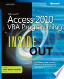 Microsoft Access 2010 VBA Programming Inside Out Book