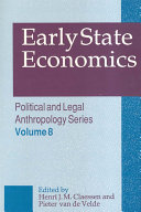 Pdf Early State Economics Telecharger