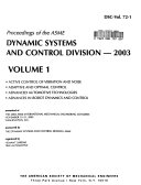 Proceedings of the ASME Dynamic Systems and Control Division  2003 Book