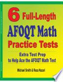 6 Full Length AFOQT Math Practice Tests
