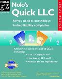 Nolo s Quick LLC Book
