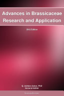 Advances in Brassicaceae Research and Application: 2012 Edition Pdf/ePub eBook