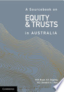 Cover of A Sourcebook on Equity and Trusts in Australia