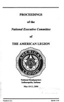 Proceedings of     National Executive Committee of the American Legion