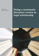 Doing a Systematic Literature Review in Legal Scholarship Book