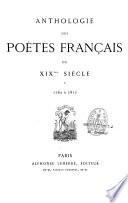 Anthologie des poètes français du XIXe siècle