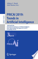 PRICAI 2019  Trends in Artificial Intelligence Book