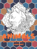 Zen Coloring Book for Adults   Animals   Large Print