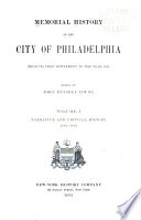 Memorial History of the City of Philadelphia Book