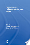 Organizations  Communication  and Health Book