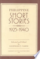 Philippine Short Stories 1925 1940 [Pdf/ePub] eBook