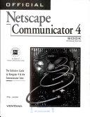 Official Netscape Communicator Book  Windows  Int l