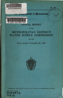 Annual Report of the Metropolitan District Water Supply Commission for the Year Ending