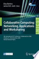 Collaborative Computing Networking Applications And Worksharing Book PDF