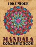 100 Unique Mandala Coloring Book