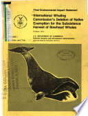 Bowhead Whale Harvest Exemption, Deletion