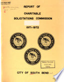 Report of Charitable Solicitations Commission