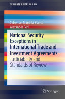 Pdf National Security Exceptions in International Trade and Investment Agreements Telecharger