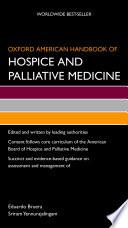 Oxford American Handbook of Hospice and Palliative Medicine