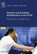 Potential and Possibility  Rehabilitation at end of life