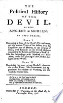 The Political History of the Devil Book