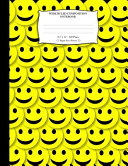 Wide Ruled Composition Notebook 8  5 X 11   120 Pages  Happy Faces Pattern