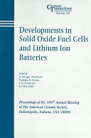 Developments in Solid Oxide Fuel Cells and Lithium Ion Batteries Book