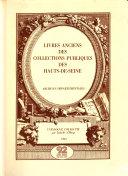Livres anciens des collections publiques des Hauts-de-Seine