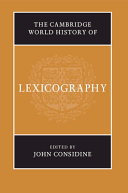 The Cambridge World History of Lexicography