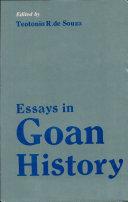 Essays in Goan History