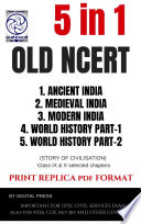 5 Books Combined Old Ncert Histroy Manual Series For Civil Services Examination By Dp Format