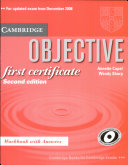 Cambridge Vocabulary for First Certificate Student Book with Answers and Audio CD