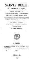 Ecclesiastique