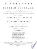 A Dictionary of the English Language     The fifth edition