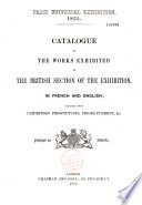 Catalogue of the Works exhibited in the British Section of the Exhibition Pdf/ePub eBook